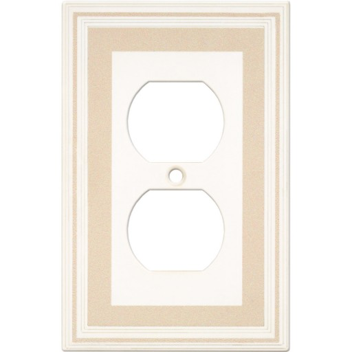Single Duplex Color Accents Wall Plate - Beige