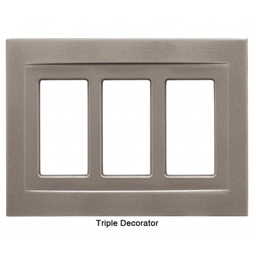 Signature Brushed Nickel Magnetic Triple Decorator Wall Plate