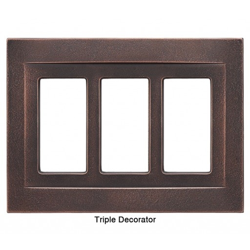 Signature Oil Rubbed Bronze Magnetic Triple Decorator Wall Plate