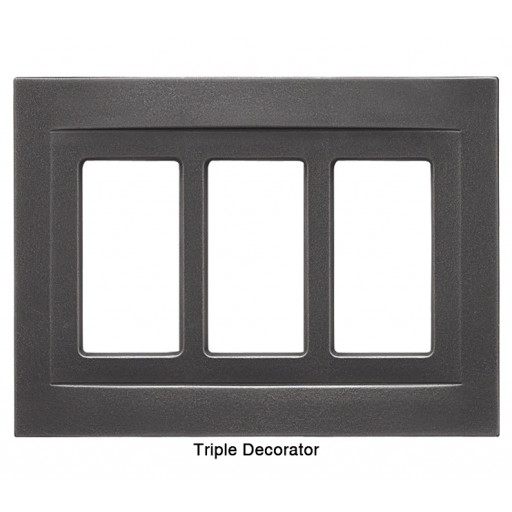 Signature Wrought Iron Magnetic Triple Decorator Wall Plate