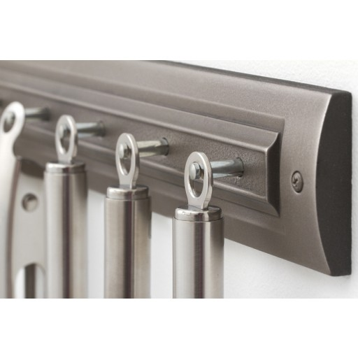 Brushed Nickel Utensil Rack