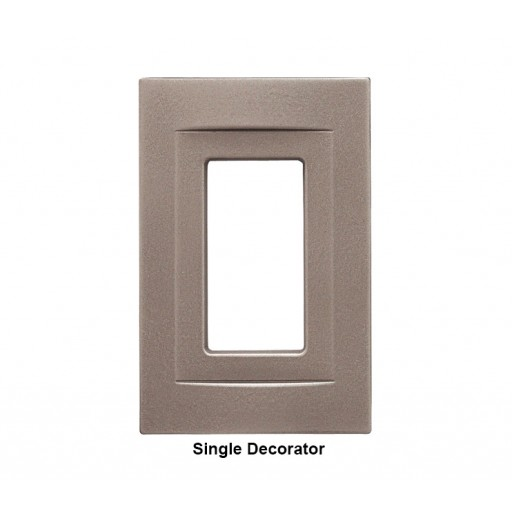 signature brushed nickel magnetic single decorator wall plate rq home. Black Bedroom Furniture Sets. Home Design Ideas