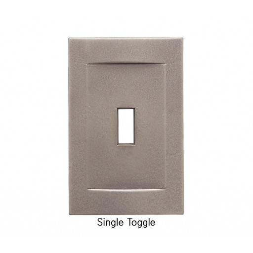 Signature Brushed Nickel Magnetic Single Toggle Wall Plate