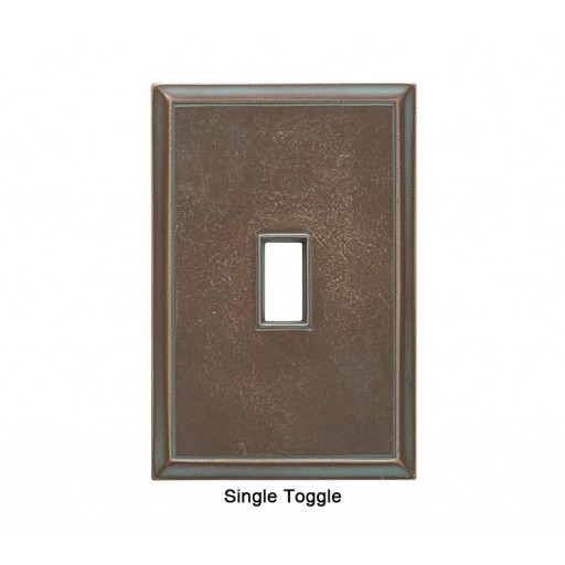 Classic Antique Bronze Verdigris Magnetic Single Toggle Wall Plate