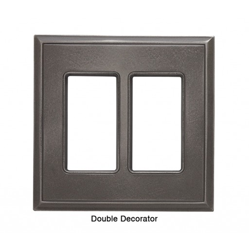 Classic Nickel Silver Magnetic Double Decorator Wall Plate