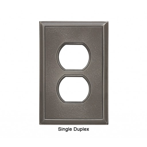 Classic Nickel Silver Magnetic Single Duplex Wall Plate