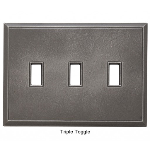 Classic Nickel Silver Magnetic Triple Toggle Wall Plate