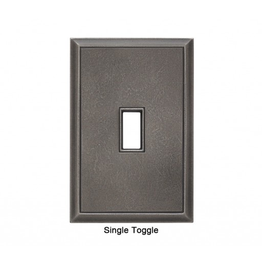 Classic Timeworn Steel Magnetic Single Toggle Wall Plate