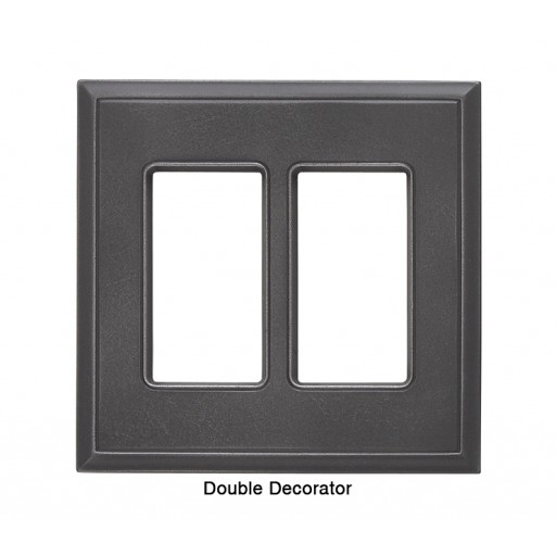 Classic Wrought Iron Magnetic Double Decorator Wall Plate