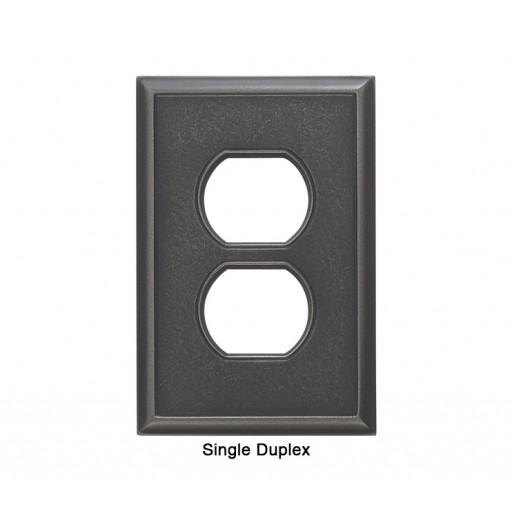 Classic Wrought Iron Magnetic Single Duplex Wall Plate