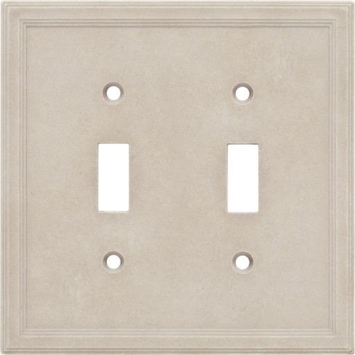 Double Toggle Cast Stone Wall Plate - Sand