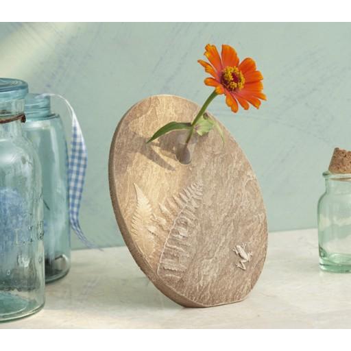 Ferns and Frog Flower Vase