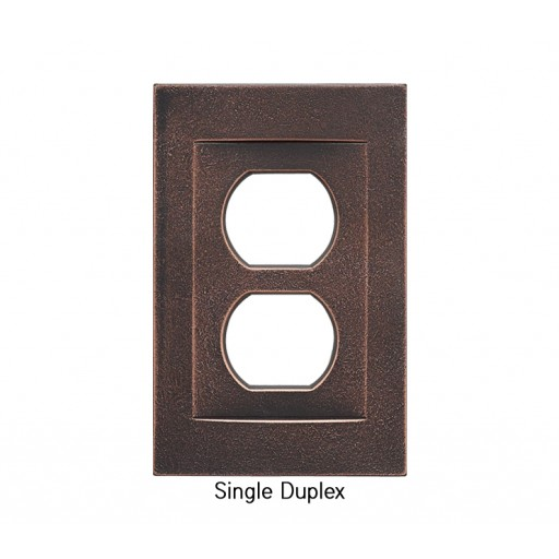 Signature Oil Rubbed Bronze Magnetic Single Duplex Wall Plate