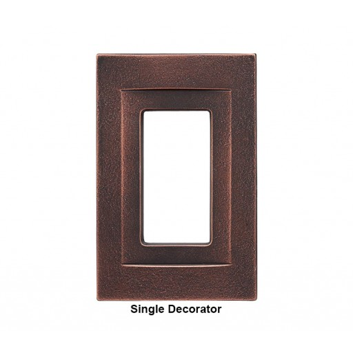 Signature Oil Rubbed Bronze Magnetic Single Decorator Wall Plate  sc 1 st  RQ Home & Signature Oil Rubbed Bronze Magnetic Single Decorator Wall Plate ...