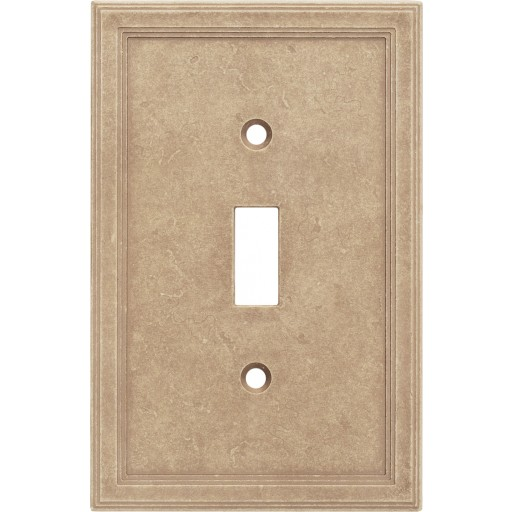Single Toggle Cast Stone Wall Plate - Sienna