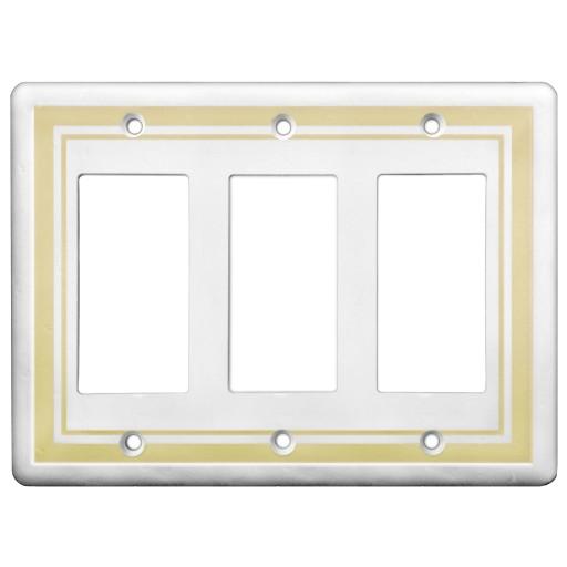 Triple GFCI Color Accents Wall Plates - Beige