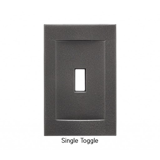Signature Wrought Iron Magnetic Single Toggle Wall Plate