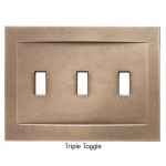 Signature Classic Bronze Magnetic Triple Toggle Wall Plate