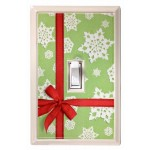 Christmas Ribbon Holiday Deco Magnetic Wall Plate