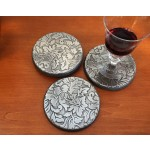 Damask Coaster, Set of 4