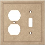 Single Toggle Duplex Combo Cast Stone Wall Plate - Sienna