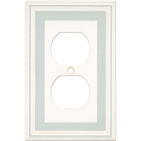 Single Duplex Color Accents Wall Plate - Cool Blue
