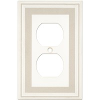 Single Duplex Color Accents Wall Plate - Grey