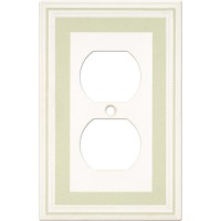 Single Duplex Color Accents Wall Plate - Soft Sage