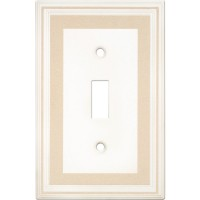Single Toggle Color Accents Wall Plate - Beige