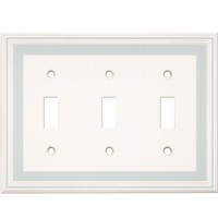 Triple Toggle Color Accents Wall Plate - Cool Blue