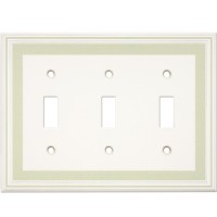 Triple Toggle Color Accents Wall Plate - Soft Sage