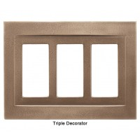Signature Classic Bronze Magnetic Triple Decorator Wall Plate