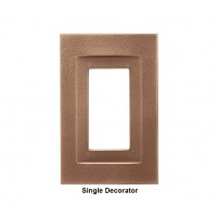 Signature Classic Bronze Magnetic Single Decorator Wall Plate