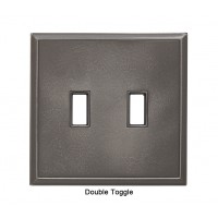 Classic Nickel Silver Magnetic Double Toggle Wall Plate