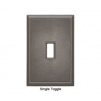 Classic Nickel Silver Magnetic Single Toggle Wall Plate