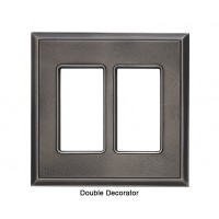 Classic Timeworn Steel Magnetic Double Decorator Wall Plate