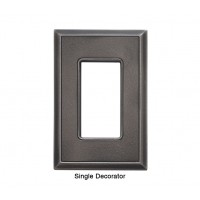 Classic Timeworn Steel Magnetic Single Decorator Wall Plate