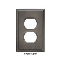 Classic Timeworn Steel Magnetic Single Duplex Wall Plate