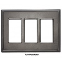 Classic Timeworn Steel Magnetic Triple Decorator Wall Plate