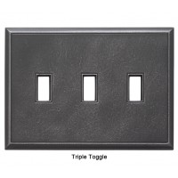 Classic Wrought Iron Magnetic Triple Toggle Wall Plate