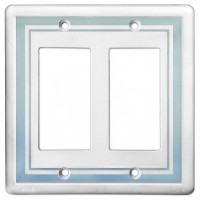 Double GFCI Color Accents Wall Plate - Cool Blue