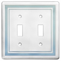 Double Toggle Color Accents Wall Plate - Cool Blue
