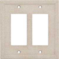 Double GFCI Cast Stone Wall Plate - Sand