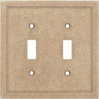 Double Toggle Cast Stone Wall Plate - Sienna