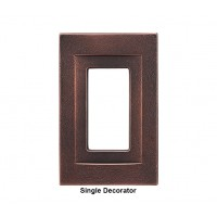Signature Oil Rubbed Bronze Magnetic Single Decorator Wall Plate