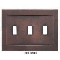 Signature Oil Rubbed Bronze Magnetic Triple Toggle Wall Plate