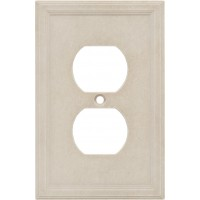 Single Duplex Cast Stone Wall Plate - Sand