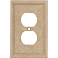 Single Duplex Cast Stone Wall Plate - Sienna
