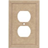 Single Duplex Cast Stone Wall Plate - Sienna