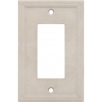 Single GFCI Cast Stone Wall Plate - Sand